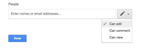 permessi condivisione google drive